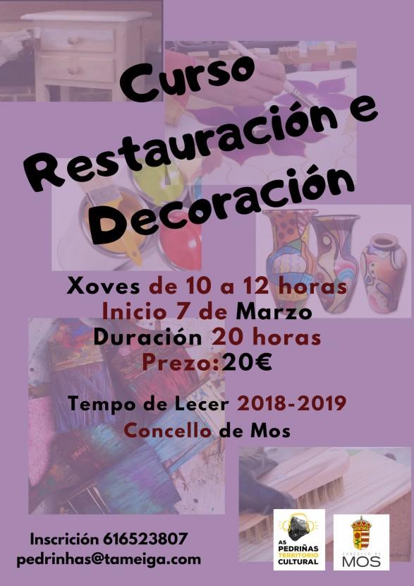 Curso de Restauración de mobles de madeira!